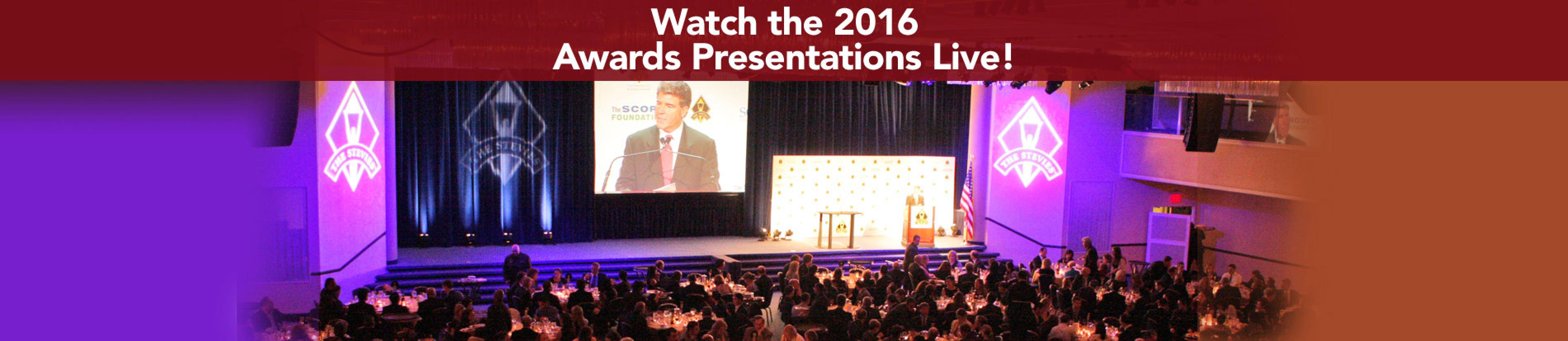 Watch the awards presentations live