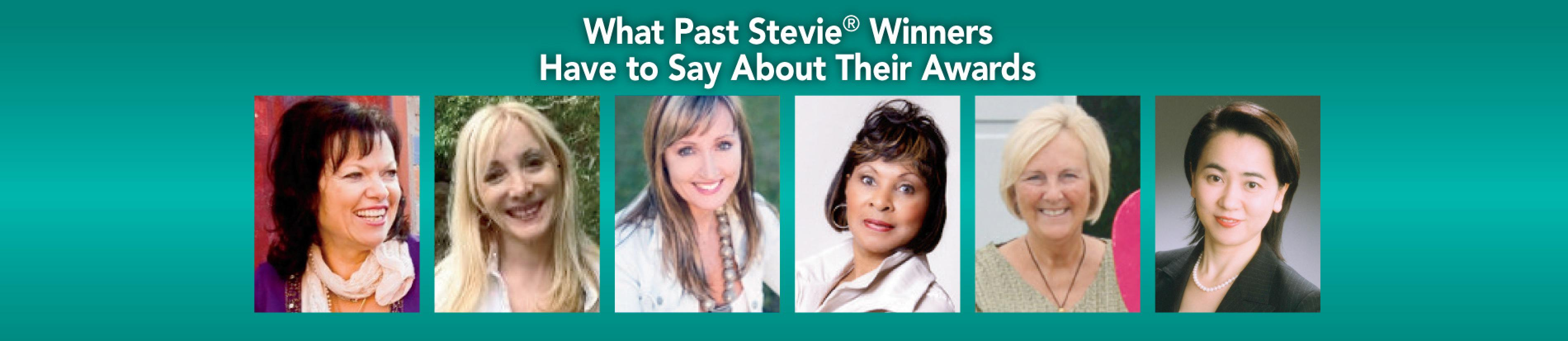 What Past Stevie Winners Say About Their Awards